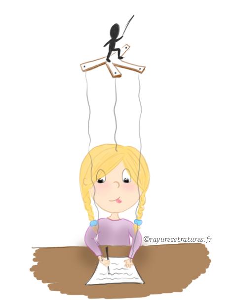 Enfant surdoué - faire ce qu'on attend de nous - marionnette - école