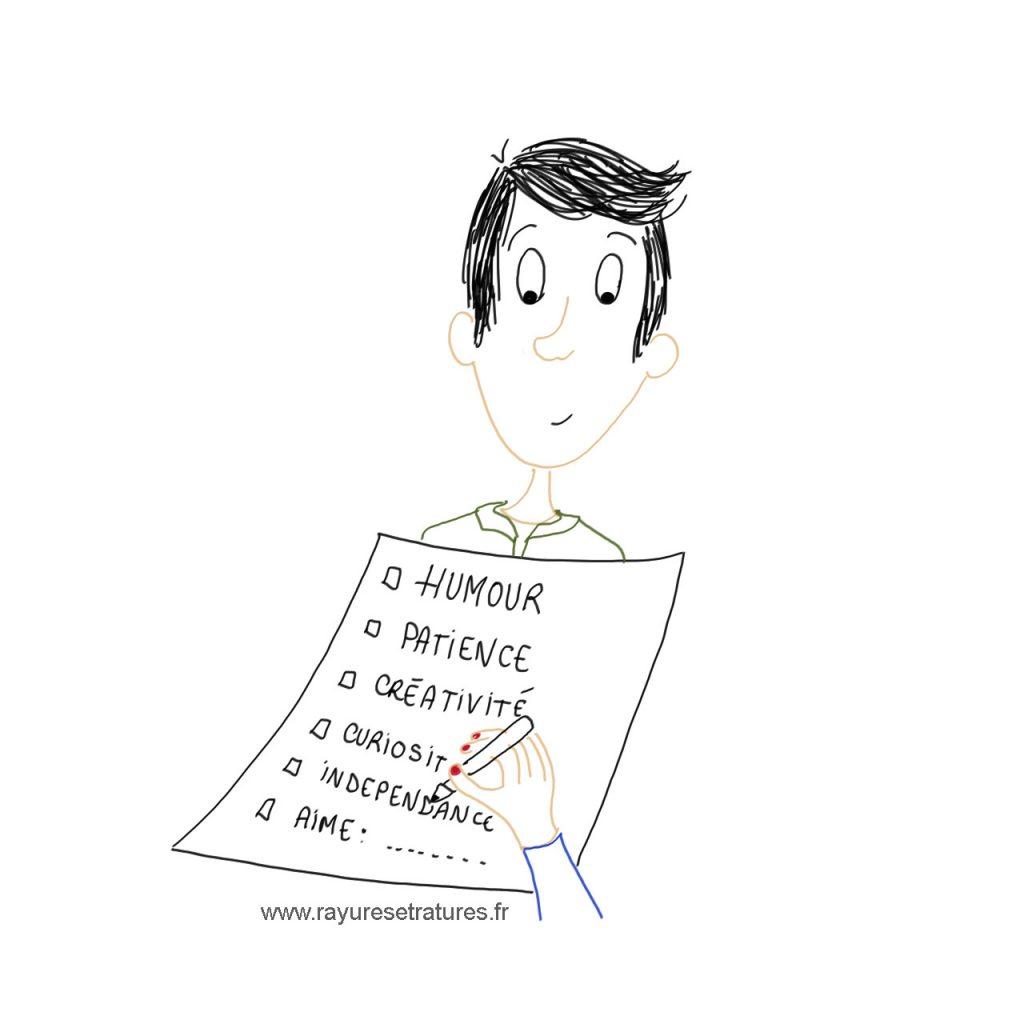 Check list de qualités chez personne surdouée en couple