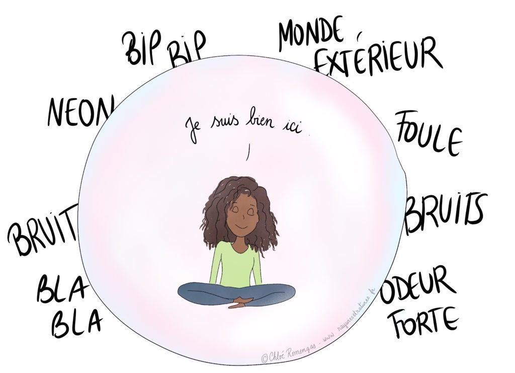 Être dans sa bulle. Hypersensibilité. Surdoué. Haut potentiel. HPI. Zèbre