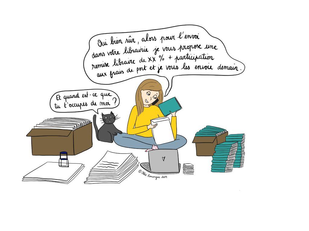 auto édition - entrepreneuriat - préparation des commandes de livres