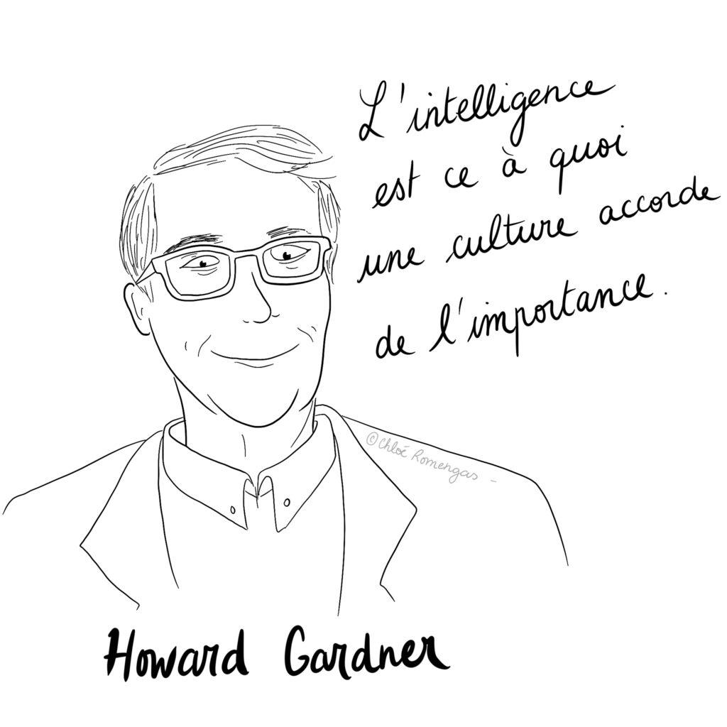 Howard Gardner - illustration - intelligence - citation