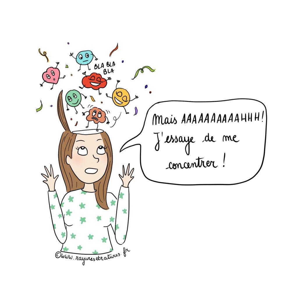 émotions hypersensibilité concentration - je pense trop