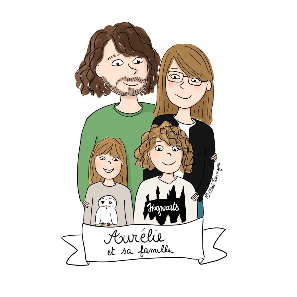 Famille de zèbres