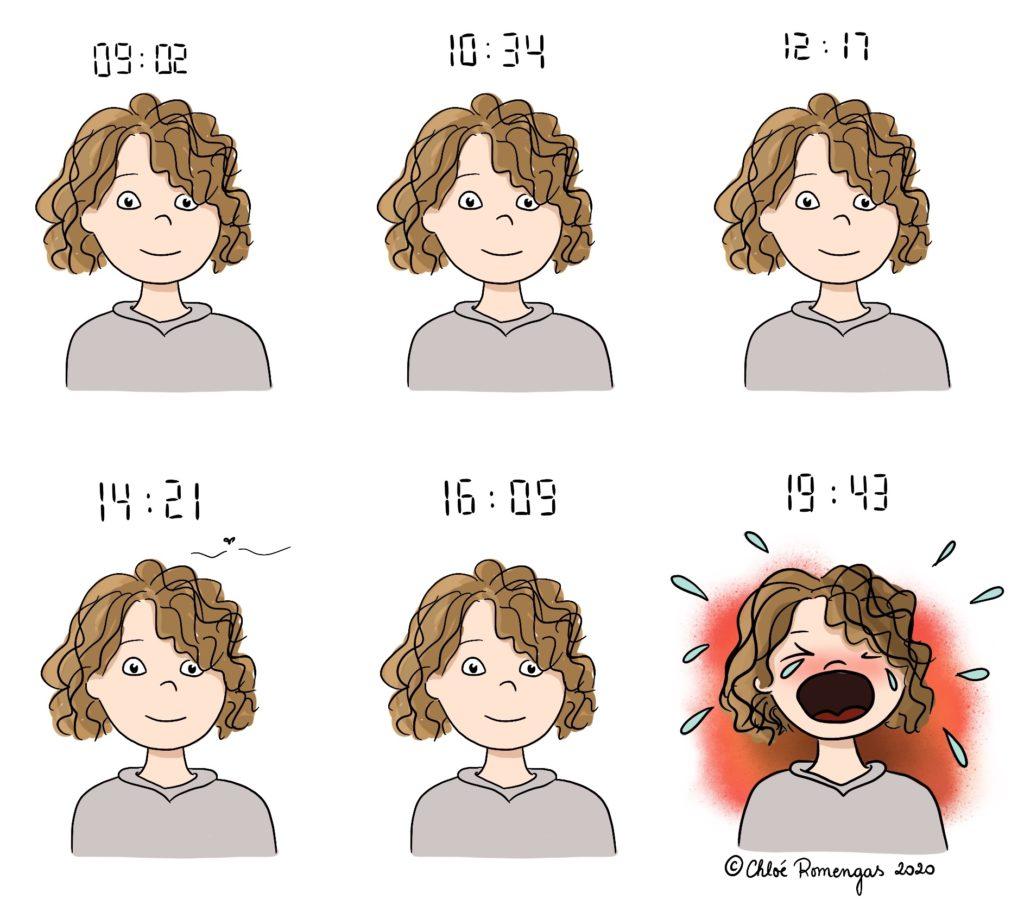 Crise - hypersensibilité - crise de colère - enfant précoce