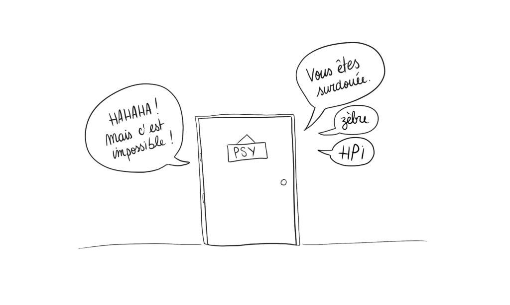 Blog Rayures et Ratures - surdoué haut potentiel HPI zèbre - illustration
